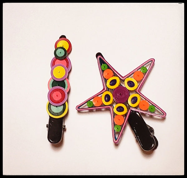 Quilling Hair Accessories  Stars & Circles