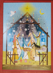 Christmas Nativity Mailable Advent Calendar Card