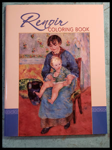 "ADA 22 paintings to color- the originals shown on the inside covers   All coloring pages are blank on the so you can cut out and frame each of your creations   Read about Pierre-Auguste stories in the introduction   22 pages  8.5"" x 11""      Coloring Books, The Gilded Page Santa Fe, New Mexico Online"