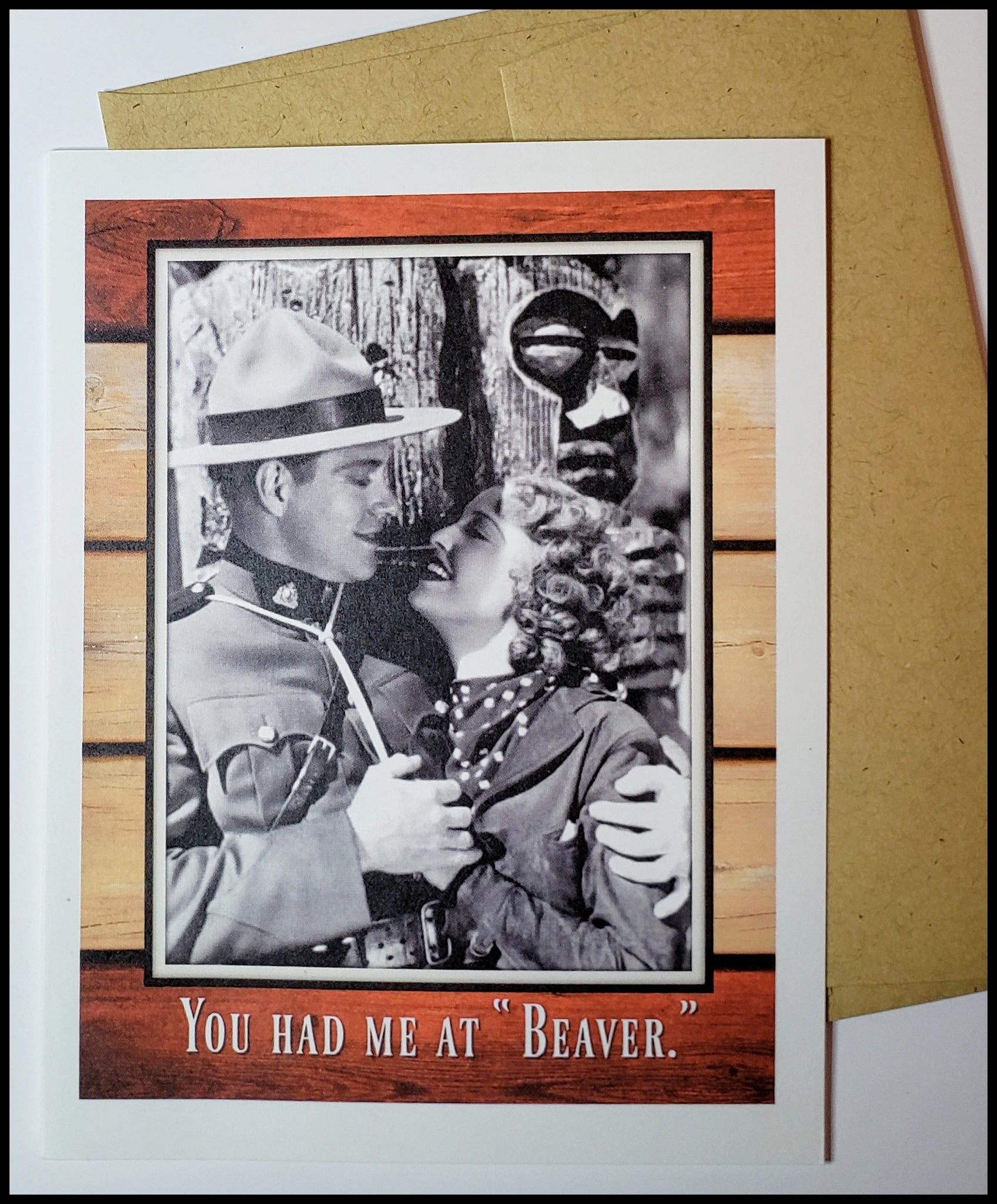 "You Had Me at ""Beaver""... Valentine's Card"
