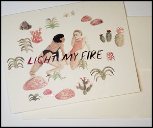 Light My Fire Valentine's Card
