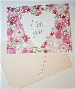 I Love You Valentine's Card