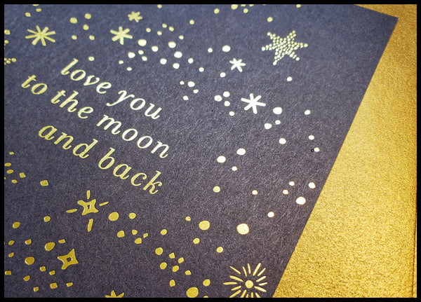 Love You to The Moon and Back Valentine's Card