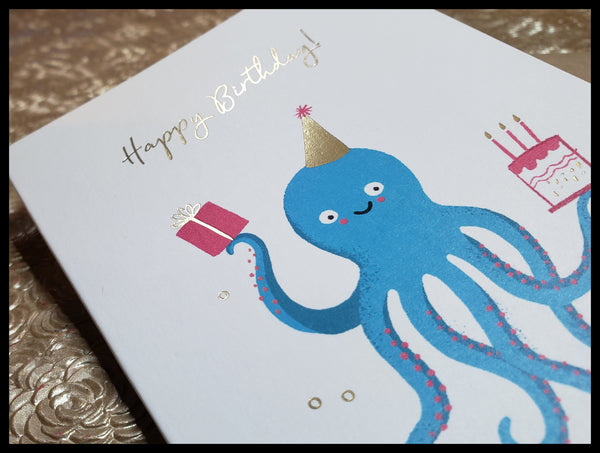 Birthday Blue Octopus