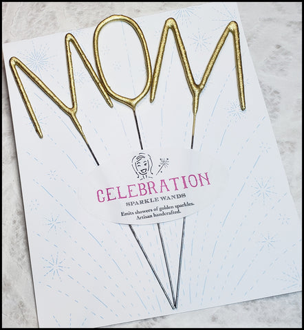 MOM Celebration Sparkler Wands