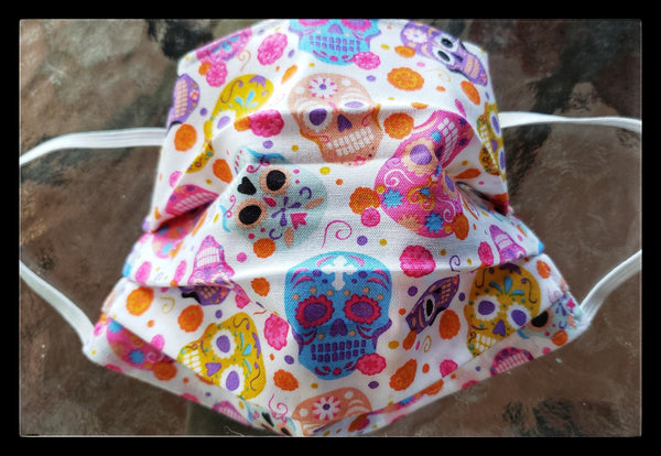Child/SM Sugar Skull Face Mask