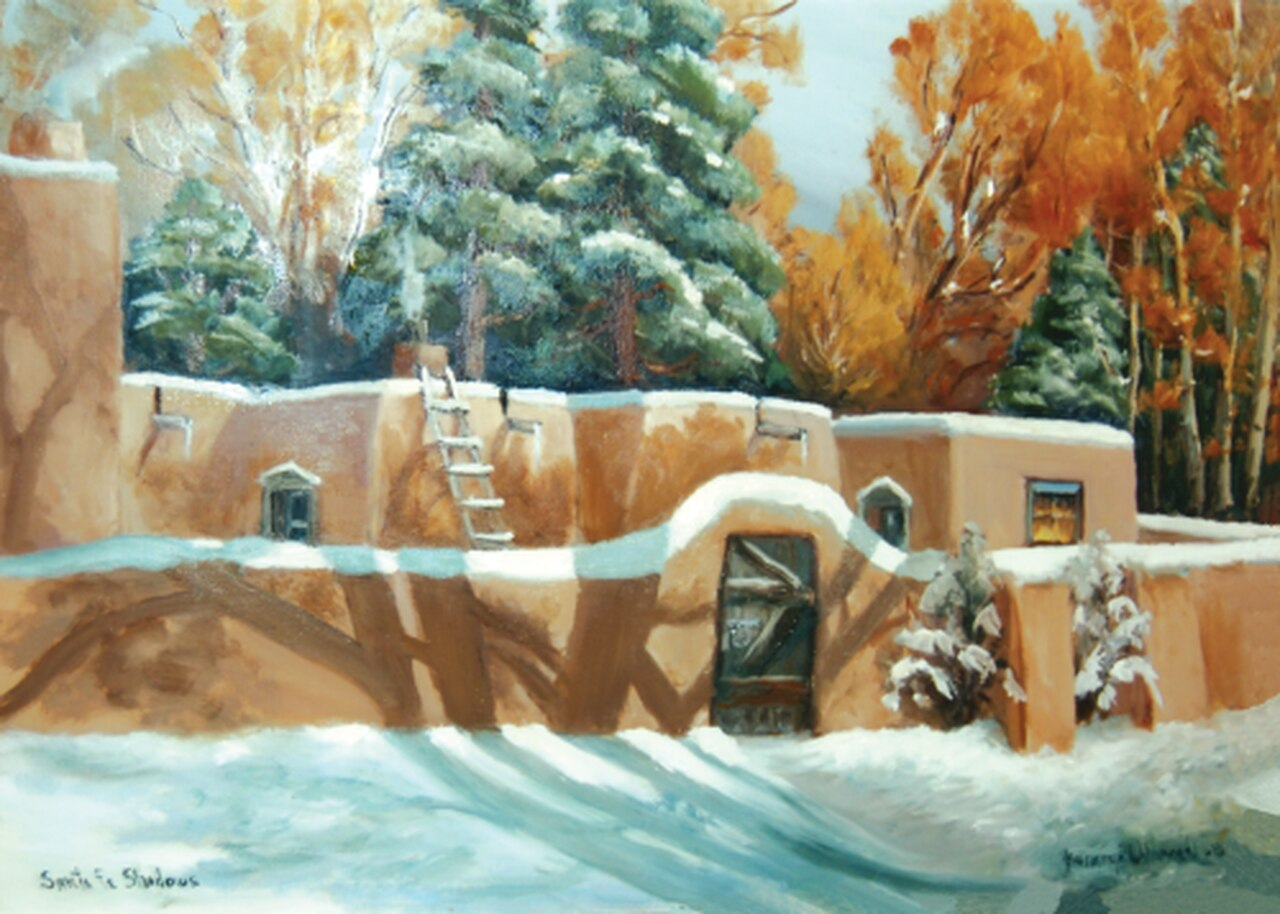 "ADA Message Inside: Let the Beauty of the Holidays be with You Throughout the New Year 12 cards & envelopes   All same image   5.5"" x 7.5"" with envelope   Call for bulk order  CHR-362     Holiday Cards, The Gilded Page Santa Fe, New Mexico Online"