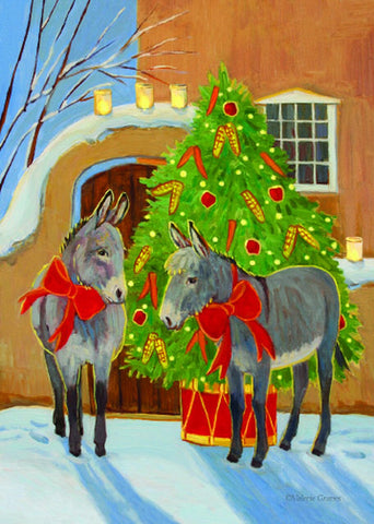 "ADA Message Inside: Wishing You a Joyous Christmas Season And a Happy New Year 12 cards & envelopes   All same image   5.5"" x 7.5"" with envelope   Call for bulk order  CHR-409     Holiday Cards, The Gilded Page Santa Fe, New Mexico Online"