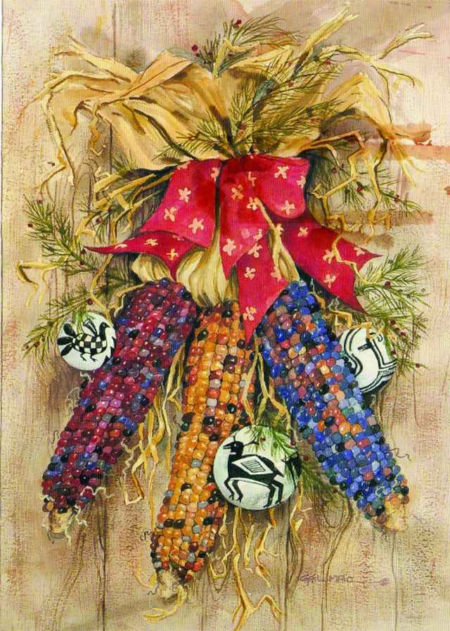 Harvest Christmas by Gail Maio 12 Pack Holiday Cards