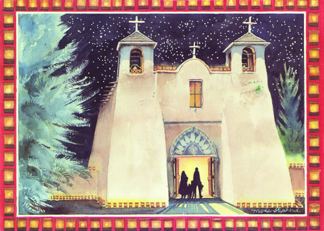 Holiday at Ranchos de Taos by Maris Shepherd 12 Pack Holiday Cards