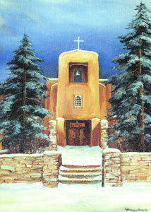 San Miguel Church by Kathryn Williams 12 Pack Holiday Cards