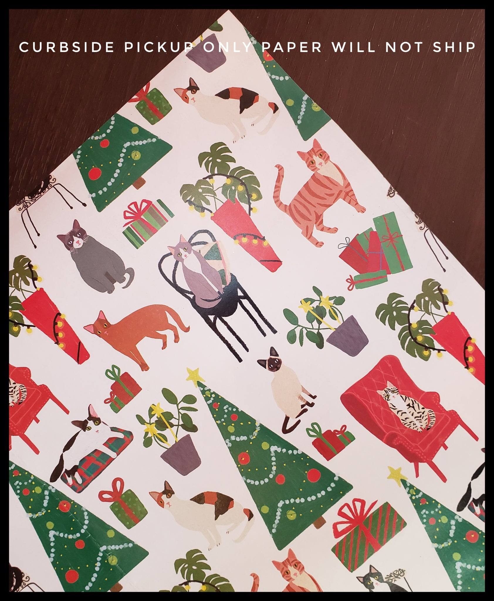 Christmas Cats 2 Pack Holiday Sheet Paper