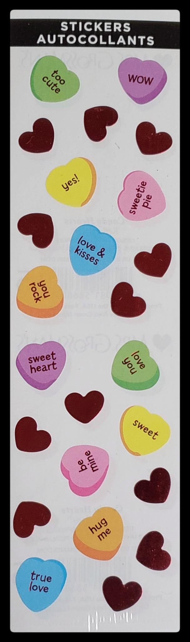 Heart Candy Sheet Stickers