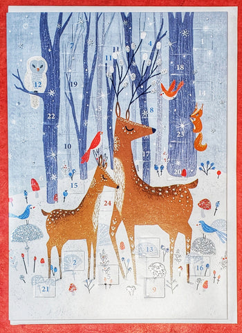 Frosty Forest Mailable Advent Calendar Card
