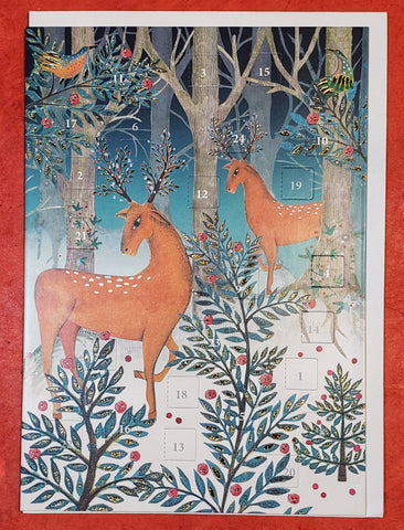 Magnificent Deer Mailable Advent Calendar Card