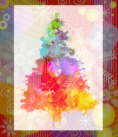 Rainbow Tree Single Holiday Card