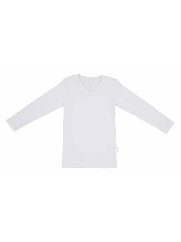V-neck Longsleeve cl120 Wit