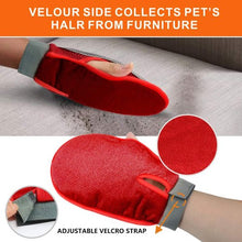 Load image into Gallery viewer, 2-in-1 Soft Pet Grooming Rubber Glove for Dogs and Cats Hair Remover Brush Deshedding