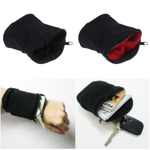 Zipper Wrist Wallet Pouch Sports