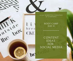 content ideas for social media