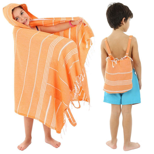 Beach Backpack Towel, Convertible Smart Towel for Kids - KarmaDNA