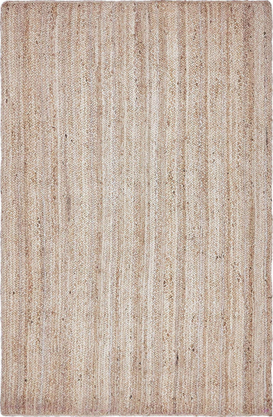 Natural Braided Jute Rectangle Rug 5' x 8' - KarmaDNA