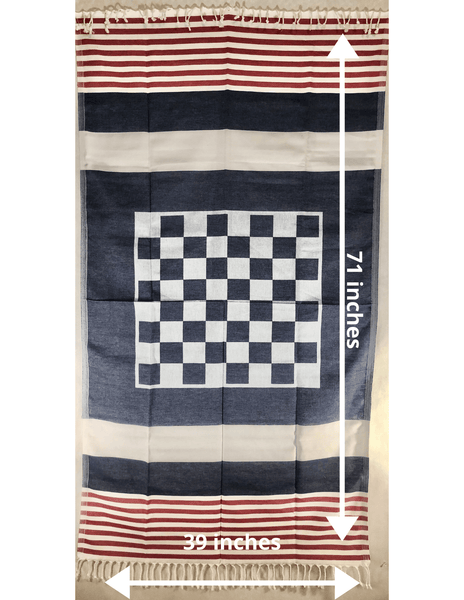 Red, White and Blue Smart Towel- 100% Natural Cotton - KarmaDNA
