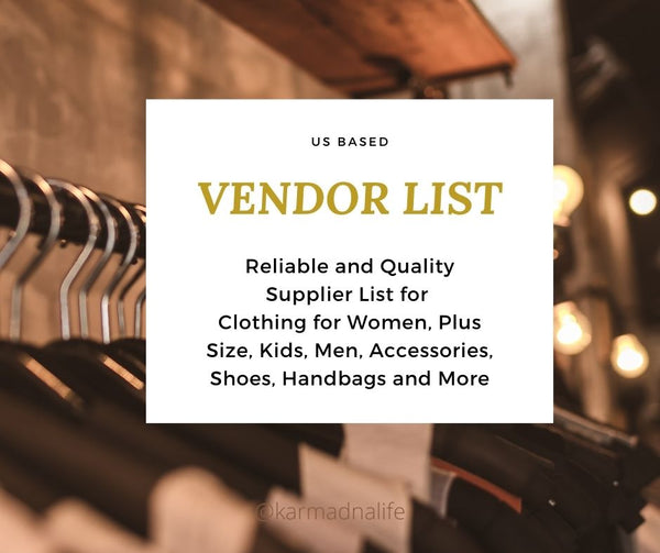Vendor List for Boutique Owners
