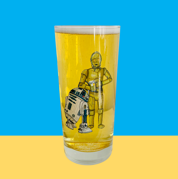 "Single Product Image Thumbnail ""C-3POur me a beer"" glass #21"