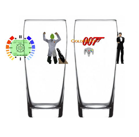 """Mission Status: Thirsty"" Glass #007"