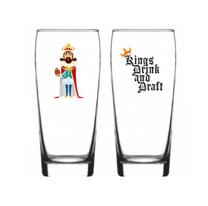 "Single Product Image Fantasy Football ""The Draft King"" Glass #9"