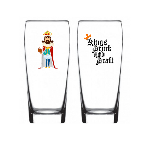 "Single Product Image Thumbnail Fantasy Football ""The Draft King"" Glass #9"