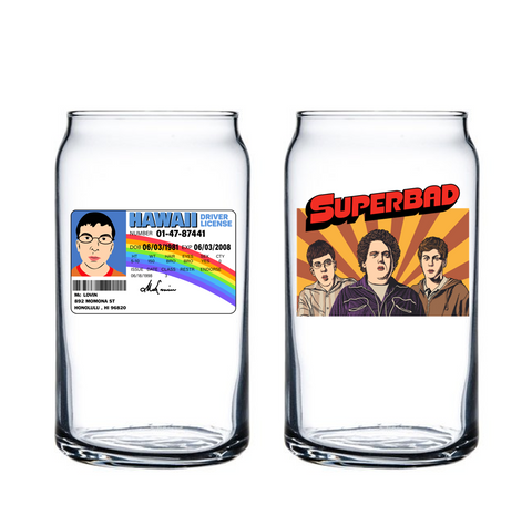 """I am McLovin!"" Glass #6"