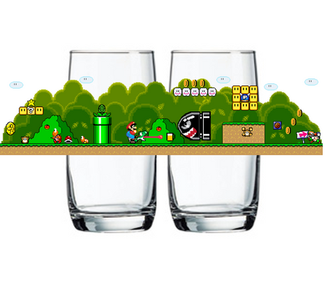 """Version 2 Yoshi's Beer Battle"" Glass"