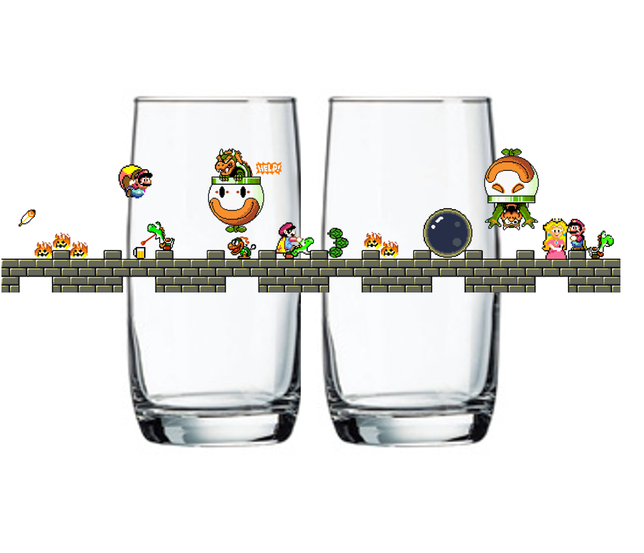 "Single Product Image ""The Fall of Bowser"" is back! Glass #18"