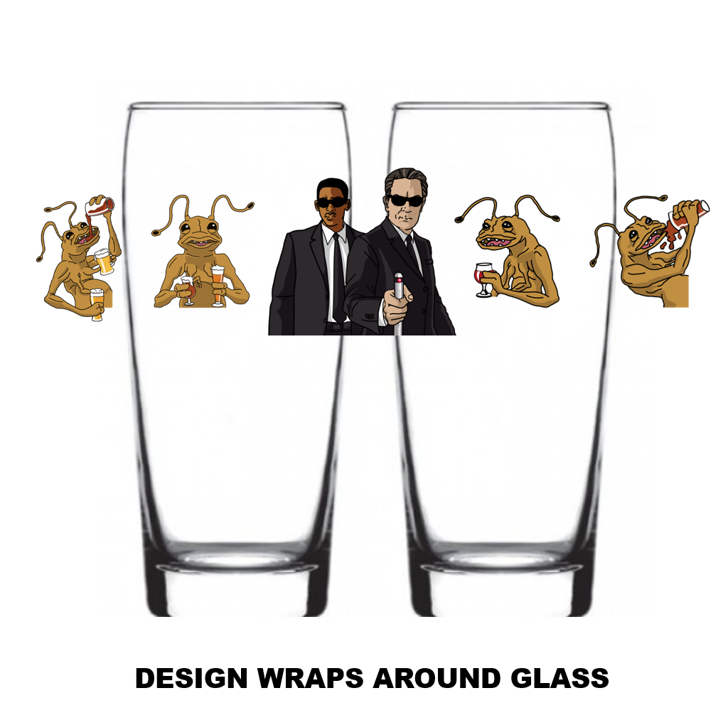 "Single Product Image ""Men In Black"" Glass #29"