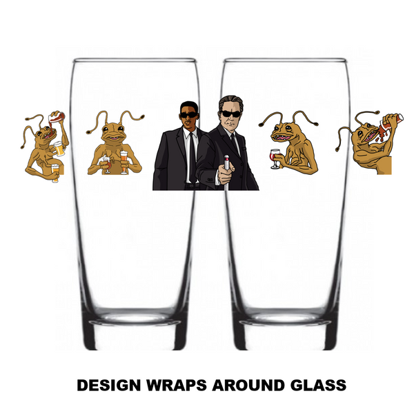 "Single Product Image Thumbnail ""Men In Black"" Glass #29"