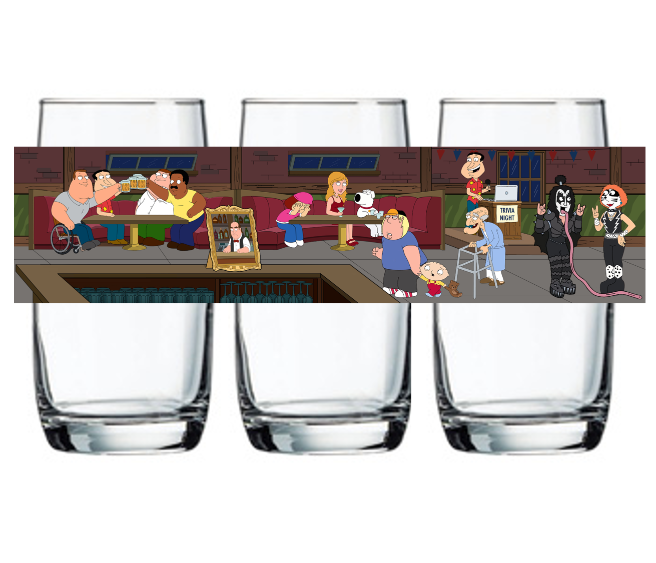 "Single Product Image ""Trivia Night at The Drunken Clam"" Glass #15"