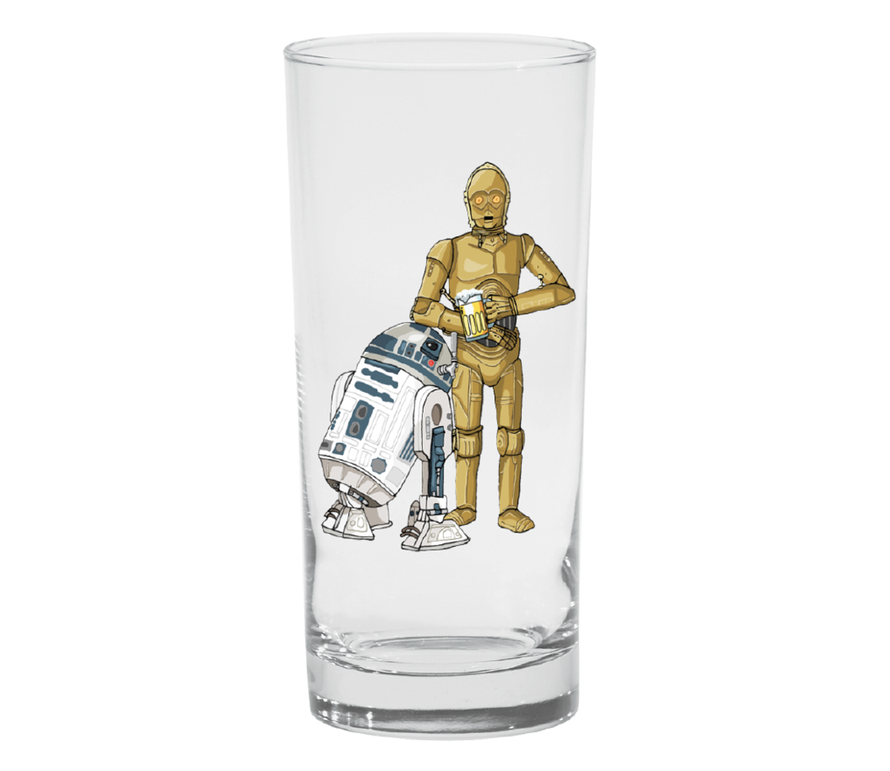 "Single Product Image ""C-3POur me a beer"" glass #21"