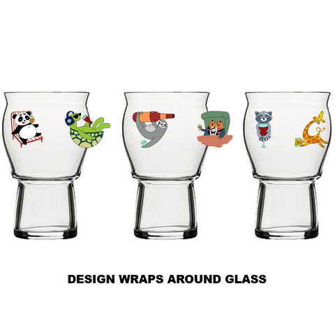 """Party Animals"" Glass #24"