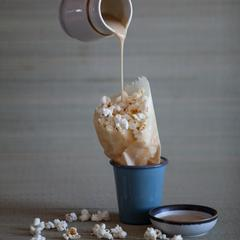 Gourmet Inspirations POP CORN with Salted Caramel Whisky Sauce