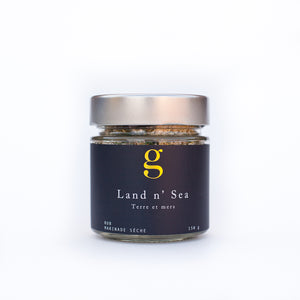 Land n' Sea Rub - Perfect rub for seasoning fish & seafood. Sprinkle on fresh baked potato, eggs, grilled or roasted veggies or potatoes, or mix in softened unsalted butter to make a delicious compound butter or spread.