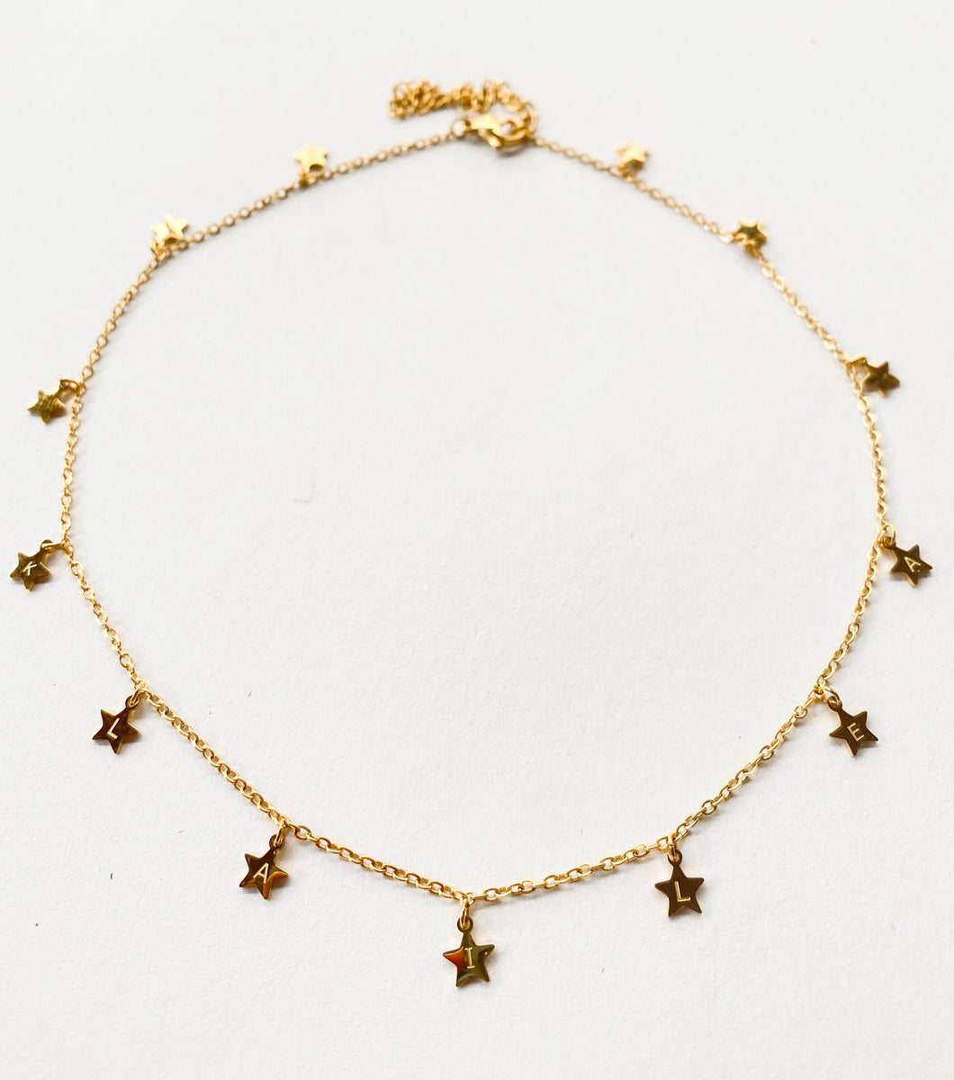KLAILEA Yellow Gold Star Choker