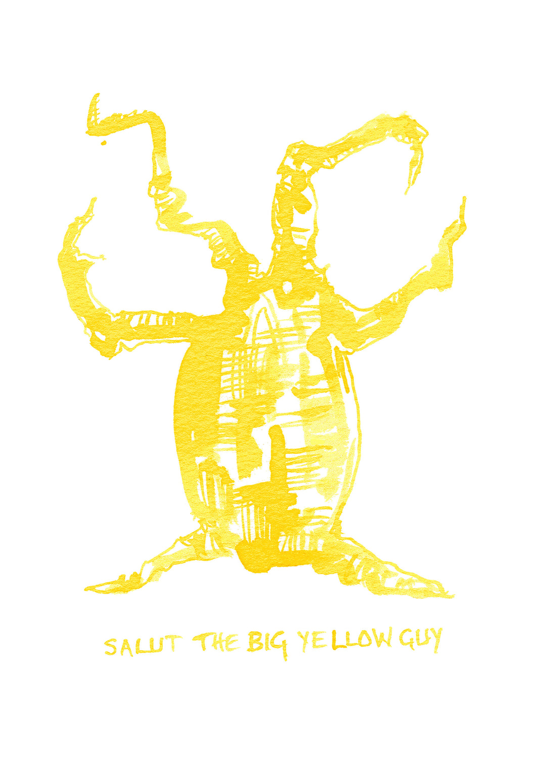 46. Salut the big yellow guy
