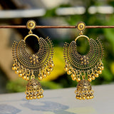 Golden Indian Jhumka Boho Style Earings