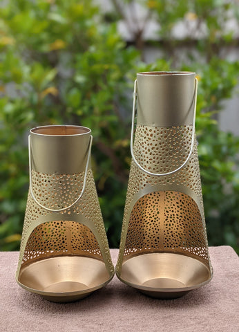 Decorative Lantern Gold Set of 2