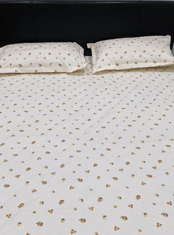 Floral Pattern Fitted Sheet Set With Elastic