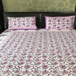 Pure Cotton Hand Block Print Queen Flat Sheet Set