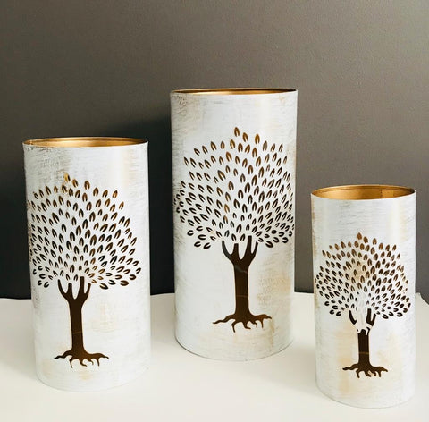 Tree Metal Candle Holders Set Of 3