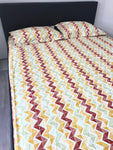 Multicolour Pure Cotton King Fitted Sheet Set